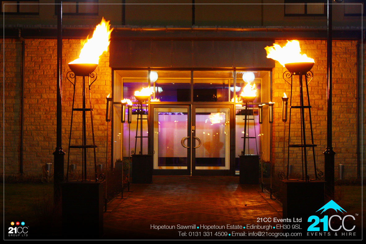flambeaux torches for events by 21CC Events Ltd