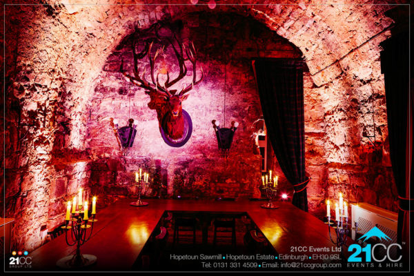 venue lighting in edinburgh by 21CC Events Ltd
