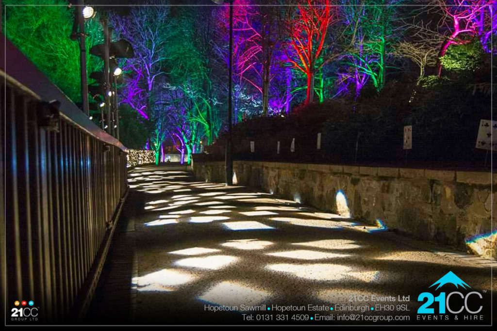 outdoor lighting by 21CC Events Ltd