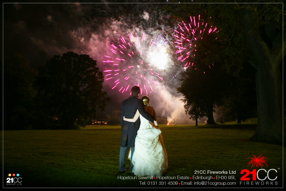 Wedding Fireworks In Scotland by 21CC Fireworks Ltd
