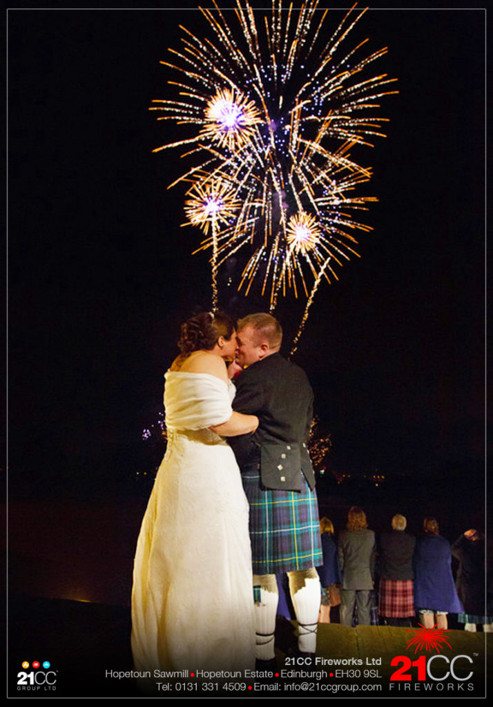 Wedding Fireworks In Scotland by 21CC Fireworks