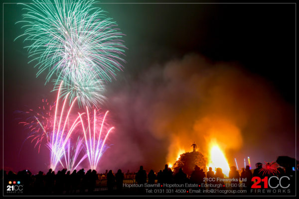 local authority fireworks by 21CC Fireworks Edinburgh