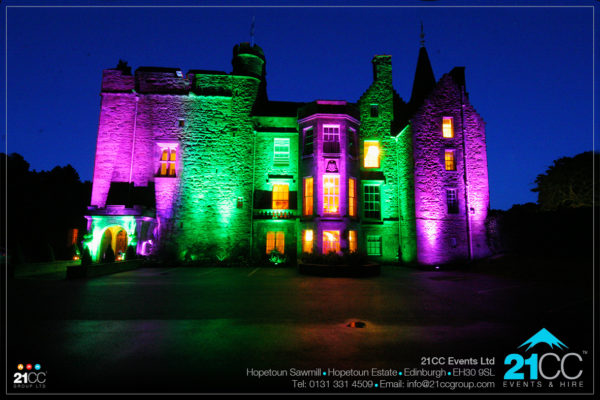 feature event lighting by 21CC Events