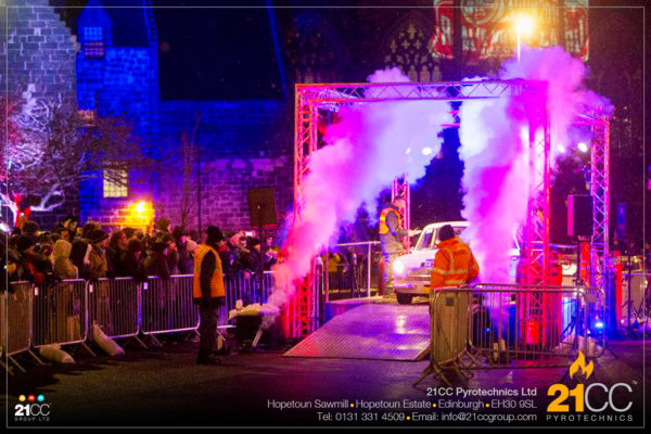 CO2 jets in scotland by 21CC Pyrotechnics