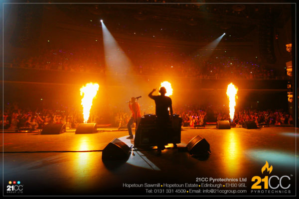 flame effects for events by 21CC pyrotechnics