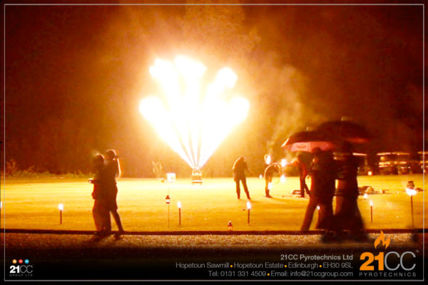 outdoor flame effects by 21CC pyrotechnics