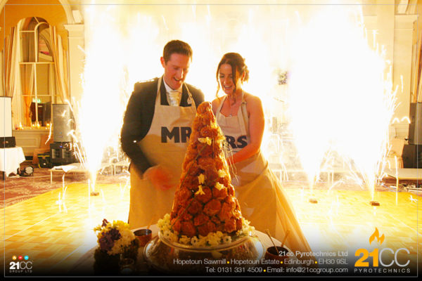 21cc Pyrotechnics for Wedding Day